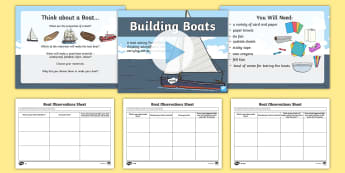 Suitability of Everyday Materials Building Boats Task Setter PowerPoint