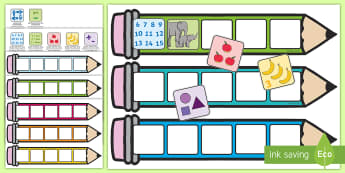 Foundation Maths Pencil Targets Assessment Tracker - numeracy, targets, criteria, objectives, display, number, reasoning, i can