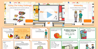 Week 15 - Problem Solving - One a day - Resource Pack -  Word Problems, Addition, Subtraction, Challenge, Solving, RUDE,Irish