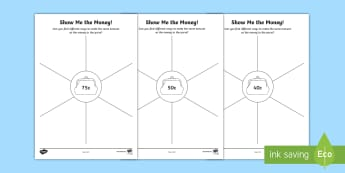 Show Me The Money Activity Sheet - year 1, year 2, money, adding coins, calculating.,Australia
