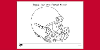 Design Your Own Football Helmet Template - usa, design, football helmet, football, helmet, template