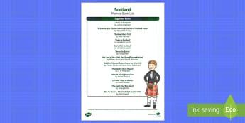 Scottish Themed Book List - Burns Night, Scotland, Scottish, Robert Burns, Burns Night, Burns Supper, Loch Ness, Nessie, Edinbur
