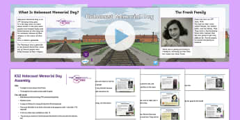 KS2 Holocaust Memorial Day Anne Frank Assembly Pack - WW2, Hitler, Jewish, Diary, prejudice, second world war,