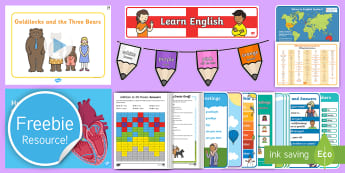 Free English and Portuguese Taster Resource Pack - Freebie, Sample, Taste, Test, Tester, Try, Bumper, Learning
