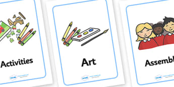 Reception / Foundation Stage 2 Visual Timetable (A4 Cards) - Visual Timetable, SEN, Daily Timetable, School Day, Daily Activities, Daily Routine, Foundation Stage