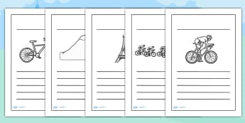 Tour de France Writing Frames - le tour, writing aid, templates
