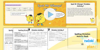 PlanIt Y5 Term 1B Assess and Review Spelling Pack - Spelling Packs Y5, Year 5, T1B, week 7, spelling SPaG, GPS, statutory, assessment, review, Mr Whoops