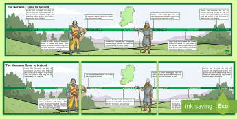 The Normans Come to Ireland Display Timeline - ROI The Normans in Ireland, invasion, Ireland, history, SESE, Strongbow, Dermot Mac Murrough, king H