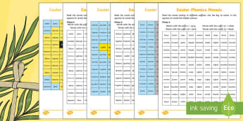 Easter Phonics Phase 6 Suffixes Mosaic Worksheet / Activity Sheet - KS1, EYFS, Year 1, Year 2, EYFS, English, Reading, Phonics, Letters and Sounds, Phase 6, Easter, Fes