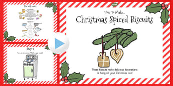 Christmas Spiced Biscuits Recipe PowerPoint - recipe, biscuits