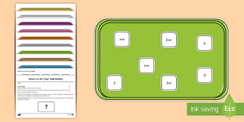 What's on the Tray? Numbers up to 20 Memory Activity Pack - auditory processing disorder, deaf eductaion, support, visual memory, visual stimulus, deaf, additio