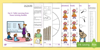5x Table Learning from Home Activity Booklet - multiplication, division, KS1, Year 2, Maths, home learning