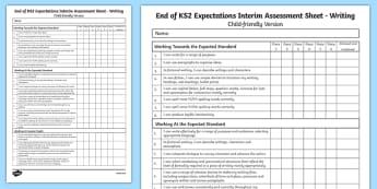 End of KS2 Expectations Writing Assessment Tracker - end of ks2, ks2, expectations, writing, assessment, write, tracker