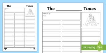 International Migrants Day Newspaper Writing Template - rights, immigration, refugee, RRSA, unicef,Scottish