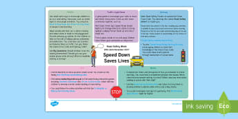 KS1 Road Safety Week Lesson Ideas - road safety, topic web, curriculum links, english, maths, STEM, Creative