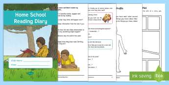 Y5/Y6 Home School Reading Diary - learning log, home learning, reading record, reading at home, homework diary