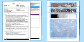 Paper Snowflakes EYFS Adult Input Plan and Resource Pack - lesson plan, snowflakes