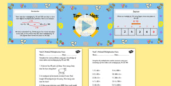Deriving Related Multiplication Facts Powerpoint Task Setter with Worksheets - multiplication, multiplication facts, powerpoint, task setter, worksheets