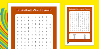 Rio 2016 Basketball Word Search - rio 2016, 2016 olympics, rio olympics, basketball, wordsearch, word search