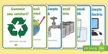 Reciclare  Planșe - t-t-9021-eco-poster-pack  Planșe, ecologie, reciclare, ziua internațională a reciclării, recicla