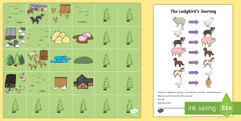 The Ladybird's Journey Bee Bot Game - the ladybirds journey, ladybird, journey, bee bot, game, beebot, bee-bot, activity