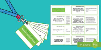 Lanyard Sized Year Six Number and Place Value Objectives Cards - Year 6, year six, y6, objectives, negative numbers, number and place value, rounding numbers, write,