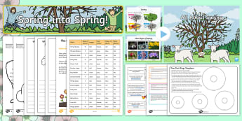 CfE First Level Spring Activity Pack - seasons, IDL, growing, new life, changes.