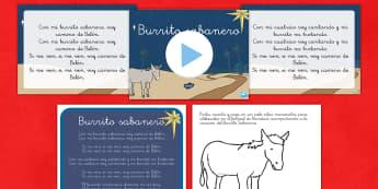 Burrito Sabanero Pack de recursos - Villancicos, Christmas songs - Spanish market
