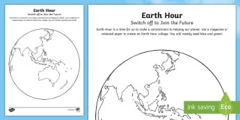 Earth Hour Craft Instructions - Earth Hour, collage, planet, globe,Australia, earth, mosaic, craft, collage