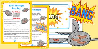 10 Fat Sausages Busy Bag For Parents - 10, fat, sausages, busy bag, parents