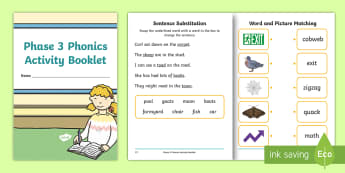 Phase 3 Phonics Activity Sheets Twinkl Resources