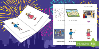 New Year's Eve Emergent Reader - New year, new year's eve, emergent reader, sight words, new year's vocabulary, new year's eve eme