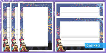 Sparks in the Sky Page Border Pack - bonfire night, fireworks, guy fawkes, EYFS, KS1, writing, twinkl fiction, twinkl originals