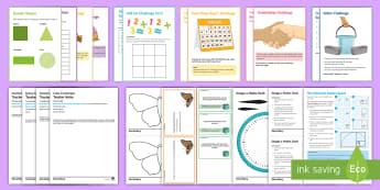 Maths Enrichment Tasks Resource Pack - Problem Solve, investigation, parents evening, motivation, enthusiasm, engagement, open-ended, pract
