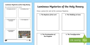 image regarding Luminous Mysteries of the Rosary Printable titled The Thirty day period of the Holy Rosary - Webpage 2