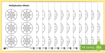 Mixed 2, 5 and 10 Times Table Multiplication Wheels Worksheet / Activity Sheet Pack - mixed, 2, 5, 10, times table, times tables, multiplication, wheels, activity, pack