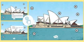 Sydney Opera House Picture Hotspots - Australia YR 3 and 4 Design Technology, design technology, sydney, architecture, design professions,