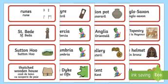 Anglo Saxons Word Cards English/Romanian - Anglo Saxons Word Cards,Romanian-translation