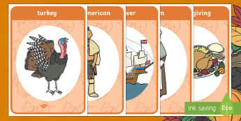 Thanksgiving Vocabulary Display Posters