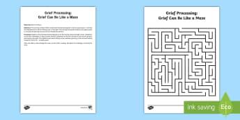 Processing Grief Maze Activity - grief, trauma, tragedy