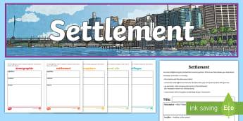 Settlement Narrative Writing Lesson Pack - Australian Curriculum, Geography, language, research, lesson, spelling,