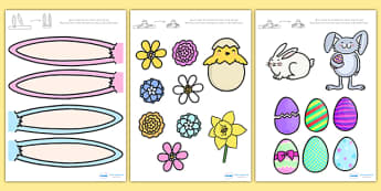 Make an Easter Bonnet Accessories - make an easter bonnet, easter bonnet, easter bonnet accessories, easter headband, easter key images, easter images, easter images for bonnet, cut out easter images cut-out easter images, cut out easter bonnet acces