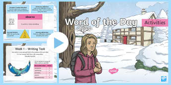 Year 4 Autumn 2 Word of the Day Activity PowerPoint - spelling, wow words, year 4 spag, vocabulary, high level vocabulary, ambitious vocabulary, year 4 mo