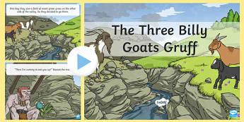 Three Billy Goats Gruff - three billy goats gruff, three billy goats gruff powerpoint, three billy goats gruff story