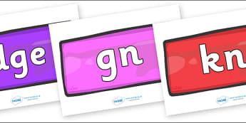 Silent Letters on Bricks (Multicolour) - Silent Letters, silent letter, letter blend, consonant, consonants, digraph, trigraph, A-Z letters, literacy, alphabet, letters, alternative sounds