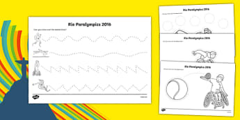 Rio Paralympics 2016 Pencil Control Activity Sheet Pack, worksheet