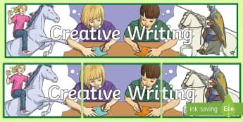 Creative Writing Display Banner - NI  Literacy, creative, imagination, writing