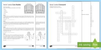 Social Justice Case Studies Activity Pack - Social justice, gender, equality, racism, homophobia, prejudice, discrimination, worksheet