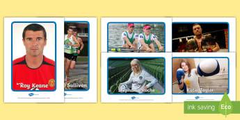Irish Sport Stars Display Pack - Irish ,sports, stars, display, Conor, Mc Gregor, Paul and Gary O'Donovan, Roy Keane, Stephanie Roch