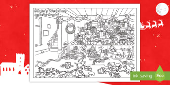 Christmas Colouring Challenge Activity English/Romanian - Christmas, Nativity, Jesus, xmas, Xmas, Father Christmas, Santa, challenge, EAL